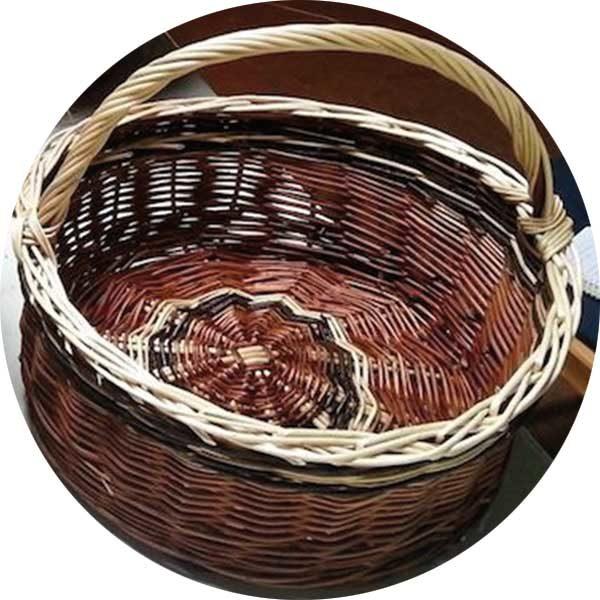 Willow Round Basket
