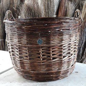 Large willow log basket